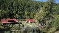 View from the narrow gauge railway from durango to silverton in colorado usa countryside by animas river Stock Photos