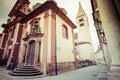 View of narrow Jirska Street in Prague Castle Stock Image