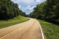 View of the Natchez Trace Parkway in Mississippi Royalty Free Stock Photo