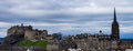 A view from the national museum of scotland edinburgh castle and royal mile seen Royalty Free Stock Photography