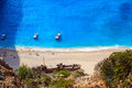 View of navagio beach in zakynthos Royalty Free Stock Photography