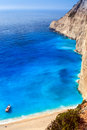 View of navagio beach in zakynthos Stock Image