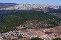 View of Nazareth from Mount Tabor Royalty Free Stock Photography