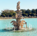 View of neptune fountain in baroque style battery park torremolinos spain Stock Image