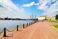 View of Neva River. St. Petersburg Royalty Free Stock Image