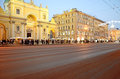 View of the Nevsky Prospect in evening illumination Royalty Free Stock Photo