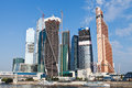 View on new moscow city buildings in summer sunny day Stock Photo