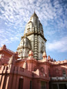 View of New Vishwanath Temple, Sai Vishwanath Temple in Banaras Hindu University Campus, Varanasi, Uttar Pradesh, India Royalty Free Stock Photo