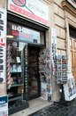 Newspapers and Magazine stand in Rome Royalty Free Stock Photo