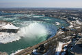 View at niagara falls from skylon tower landscape canada s side Royalty Free Stock Image