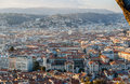View of nice city with lycee massena french riviera Royalty Free Stock Photo