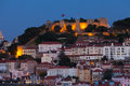 View of night lisbon horizontal photo Royalty Free Stock Image