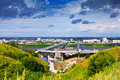 View of Nizhny Novgorod.  Metro Bridge Stock Photography