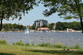 View of the North Side of Lake Calhoun Royalty Free Stock Photo