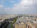 View from notre dame cathedral the top of paris Stock Image