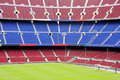 View of Nou Camp Stadium in Barcelona Royalty Free Stock Images