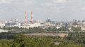 View from the observation platform of Sparrow Hills, Moscow Royalty Free Stock Photo