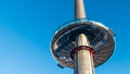 View of the observation tower on the seafront of Brighton and Hove Royalty Free Stock Photo