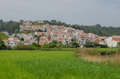 View to traditional houses in the village of Bordeira near Carrapateira, in the municipality of Aljezur in the District of Faro, A