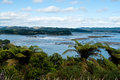 View on Ohiwa Harbour and Uretara Island Royalty Free Stock Photography