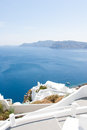 View on Oia in Santorini Stock Image