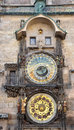 View of the old astronomical clock prague czech republic europe detail an Royalty Free Stock Image