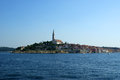View of the old city rovinj from the sea croatia in situated on north adriatic Royalty Free Stock Images