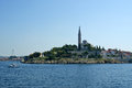 View of the old city rovinj from the sea croatia in situated on north adriatic Stock Photography
