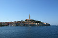View of the old city rovinj from the sea croatia in situated on north adriatic Royalty Free Stock Photos