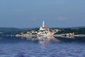 View of the old city rovinj from the sea croatia in situated on north adriatic Stock Photos