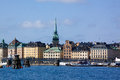 View of the old city stockholm and embankment sweden Royalty Free Stock Photography