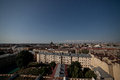 View of the old city under a blue sky on sunny clear day st petersburg russia Royalty Free Stock Photos