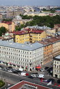 View of old european city from height of bird s flight saint petersburg russia northern europe the the panoramic restaurant the Royalty Free Stock Image