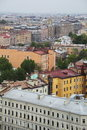 View of old european city from height of bird s flight saint petersburg russia northern europe the the panoramic restaurant the Royalty Free Stock Photo