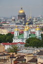 View of old european city from height of bird s flight saint petersburg russia northern europe st isaac cathedrall st nicholas Royalty Free Stock Photography