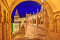 View on the Old Fisherman Bastion in Budapest. Royalty Free Stock Photo