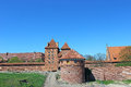 View on old german castle in malbork poland Royalty Free Stock Photos