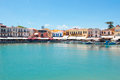 View of the old harbour. Rethymno, Crete island, Greece. Royalty Free Stock Photo