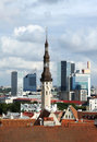 View of old and modern Tallinn, Estonia Stock Photos