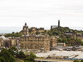 View of the old part of edinburgh in scotland uk Royalty Free Stock Photo