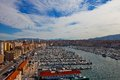View of Old Port in Marseilles city Royalty Free Stock Photo