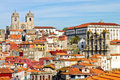 View of old porto town in including cathedral and Royalty Free Stock Photos