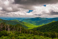 View of Old Rag and Piedmont from Skyline Drive in Shenandoah National Park Royalty Free Stock Photo