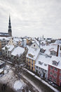 View of old riga latvia january winter s town Royalty Free Stock Image