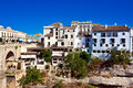 View of old Spanish town Stock Photo