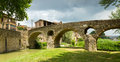 View of old stone bridge over  river  in Vic Royalty Free Stock Photo