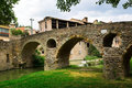 View of old stone bridge in Vic Royalty Free Stock Photo