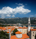 View on old town of budva montenegro balkans europe Royalty Free Stock Photos