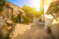 View of old town in city of Chania on island of Crete, Greece. Royalty Free Stock Photo