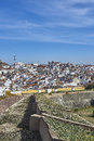 View of the old town of Elvas, Alentejo, Portugal. Royalty Free Stock Photo